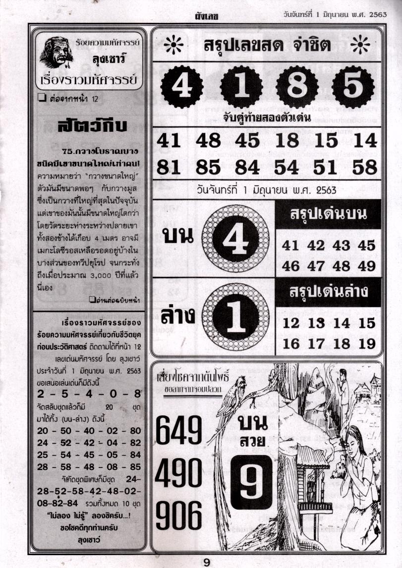 thai lotteyr 4pc paper