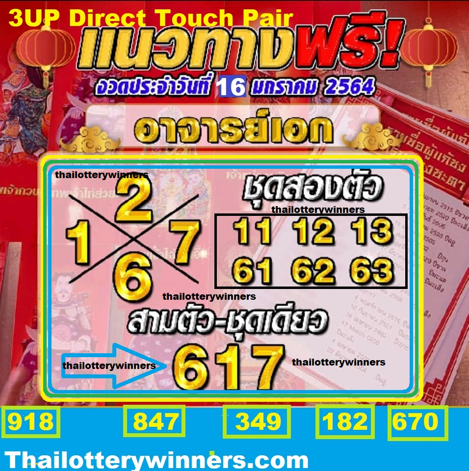 thai lottery 3up Sure