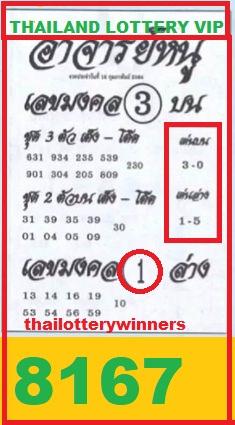 thai lotto sure tips
