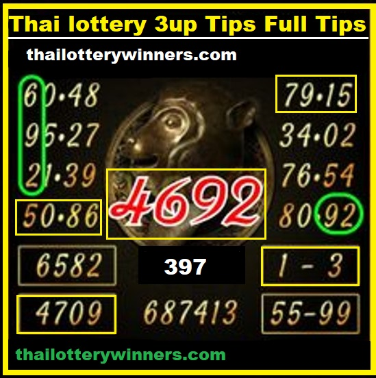 thai lotto tips 3up